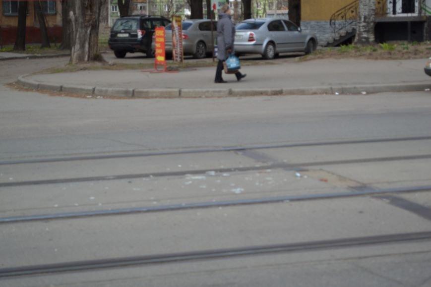 В Кривом Роге из-за ДТП на улице Косиора было остановлено движение трамваев (ФОТО), фото-12