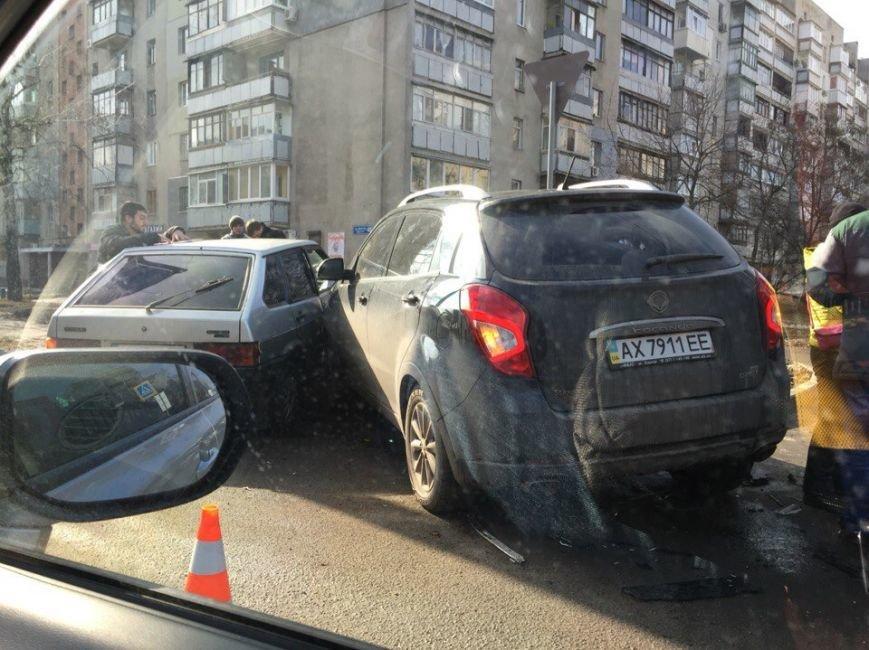 В Харькове тройное ДТП на Деревянко (ФОТО) (фото) - фото 1