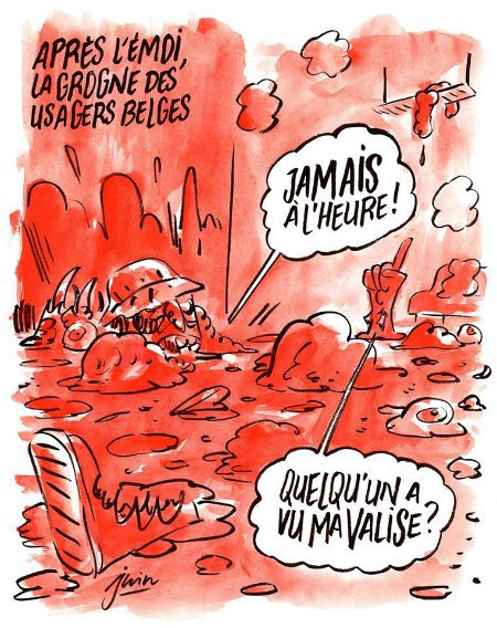 Charlie Hebdo опубликовал карикатуры на теракты в Брюсселе (фото) - фото 1