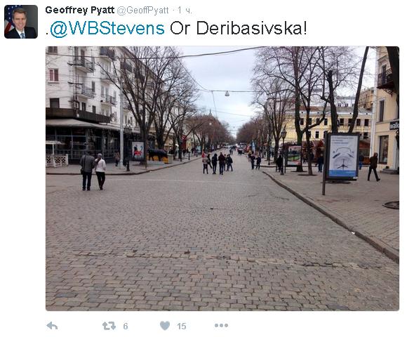 По центру Одессы прогулялся Джеффри Пайетт (ФОТО) (фото) - фото 1