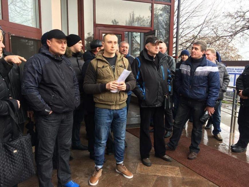 Члены независимого профсоюза в Мариуполе требуют убрать начальника порта (ФОТО+ВИДЕО), фото-8