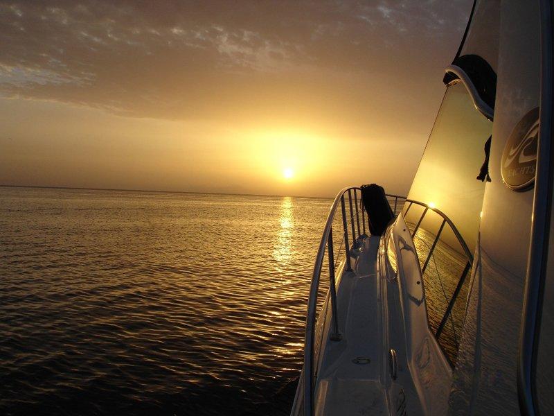 yacht sunrise