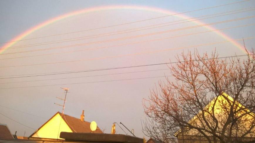 Запорожцы массово публикуют фото красивейшей радуги над городом (фото) - фото 1