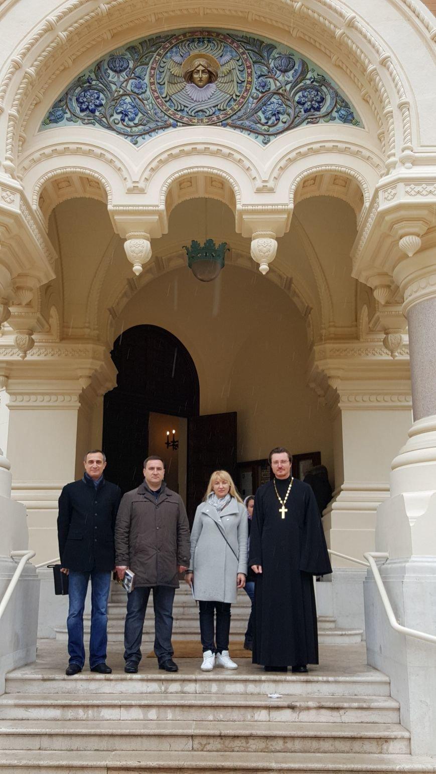 Посещение ялтинской делегацией Свято – Никольского собора в Ницце (фото) - фото 1