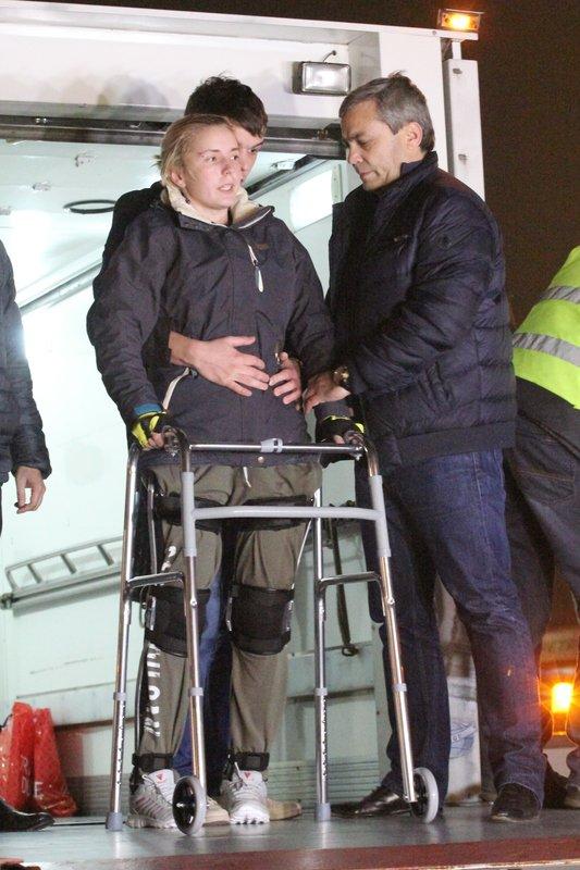 Легендарная девушка-госпитальер Яна Зинкевич вернулась после лечения в Израиле в Днепропетровск (ФОТО) (фото) - фото 23