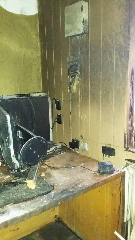 Сьогодні В Конотопі підпалили місцеву студію телебачення(КСТ), фото-5