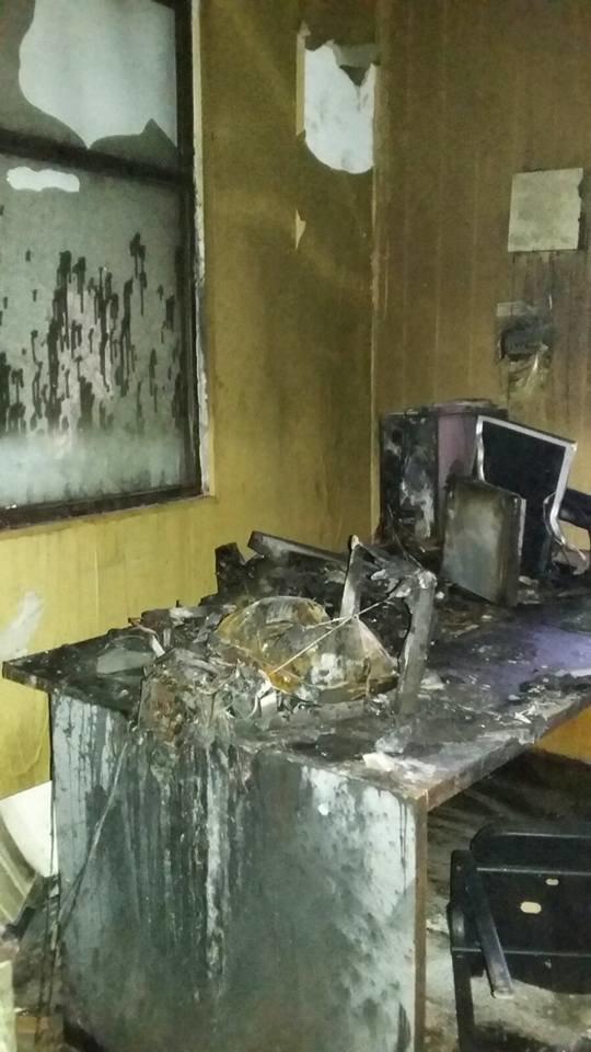 Сьогодні В Конотопі підпалили місцеву студію телебачення(КСТ), фото-4