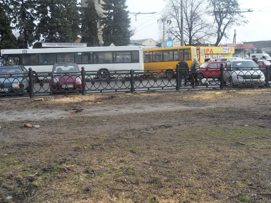 На Южном вокзале спилили около тридцати деревьев (ФОТО) (фото) - фото 6