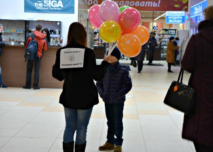 Как в Новополоцке прошла акция разноцветного настроения: смущение, улыбки и удивление, фото-4