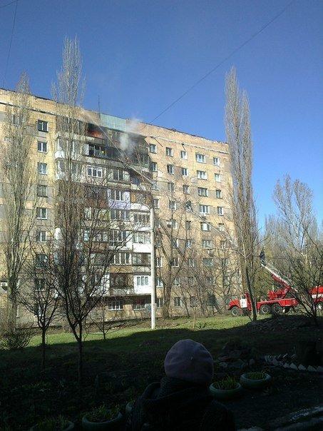 В Центрально-Городском районе Макеевки горела девятиэтажка (фото) (фото) - фото 2