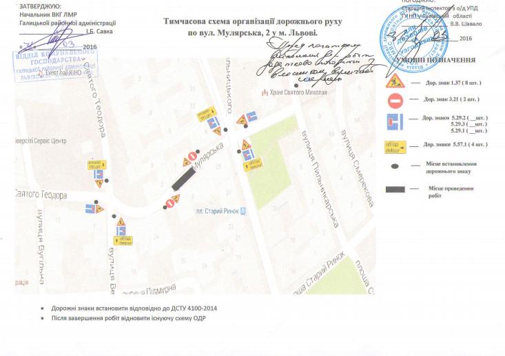 Сьогоні у Львові непроїзною стане вулиці Мулярська (СХЕМА) (фото) - фото 1