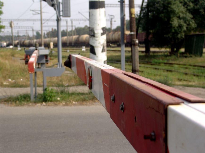 На железнодорожном переезде в Балаково