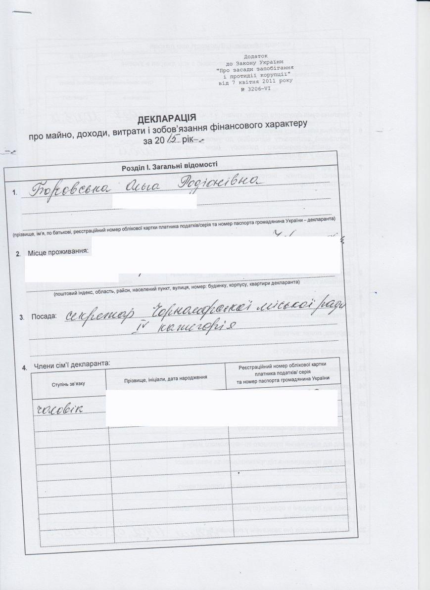 Декларации о доходах городского головы и заместителей (фото) - фото 3
