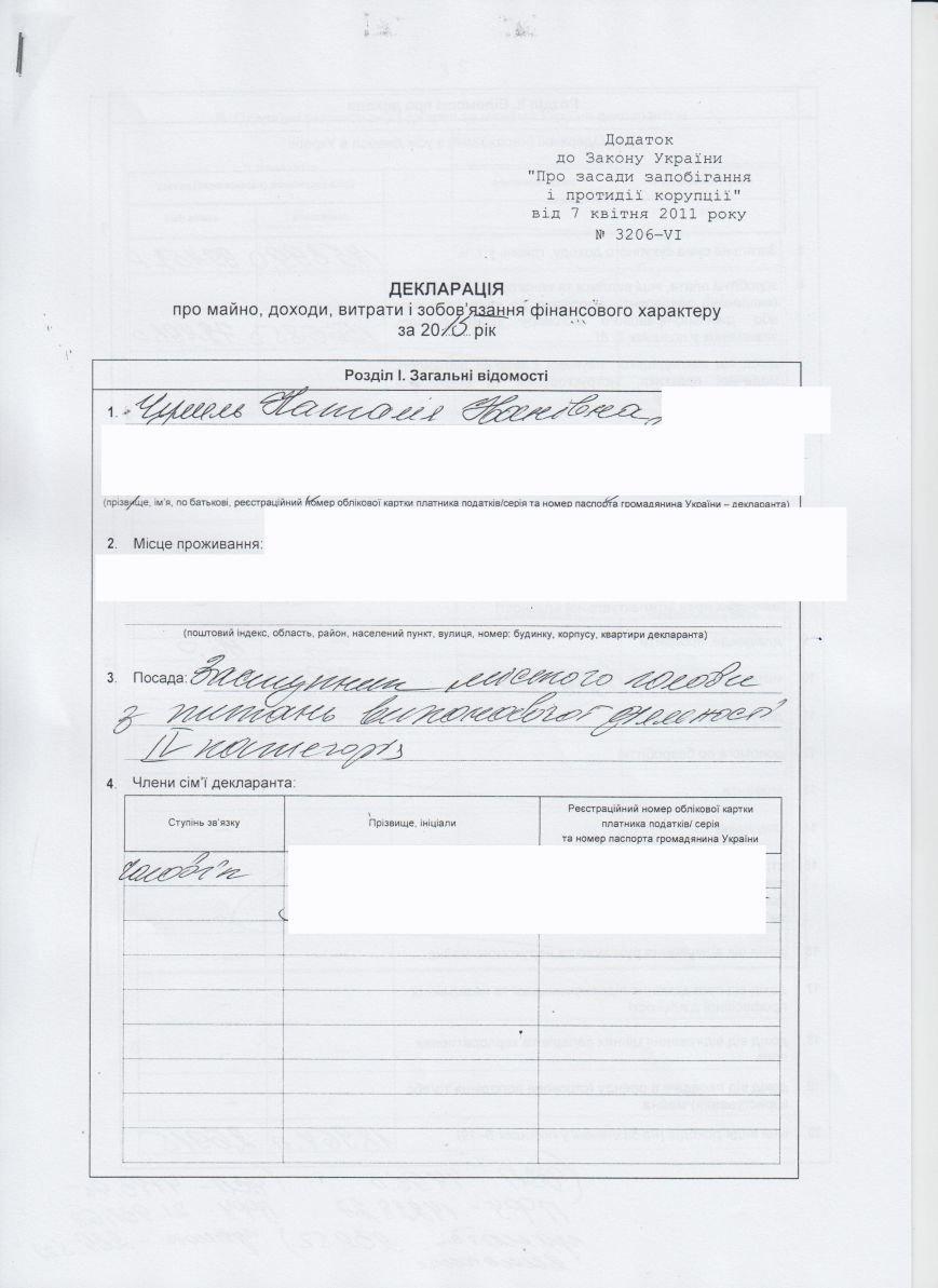 Декларации о доходах городского головы и заместителей (фото) - фото 4