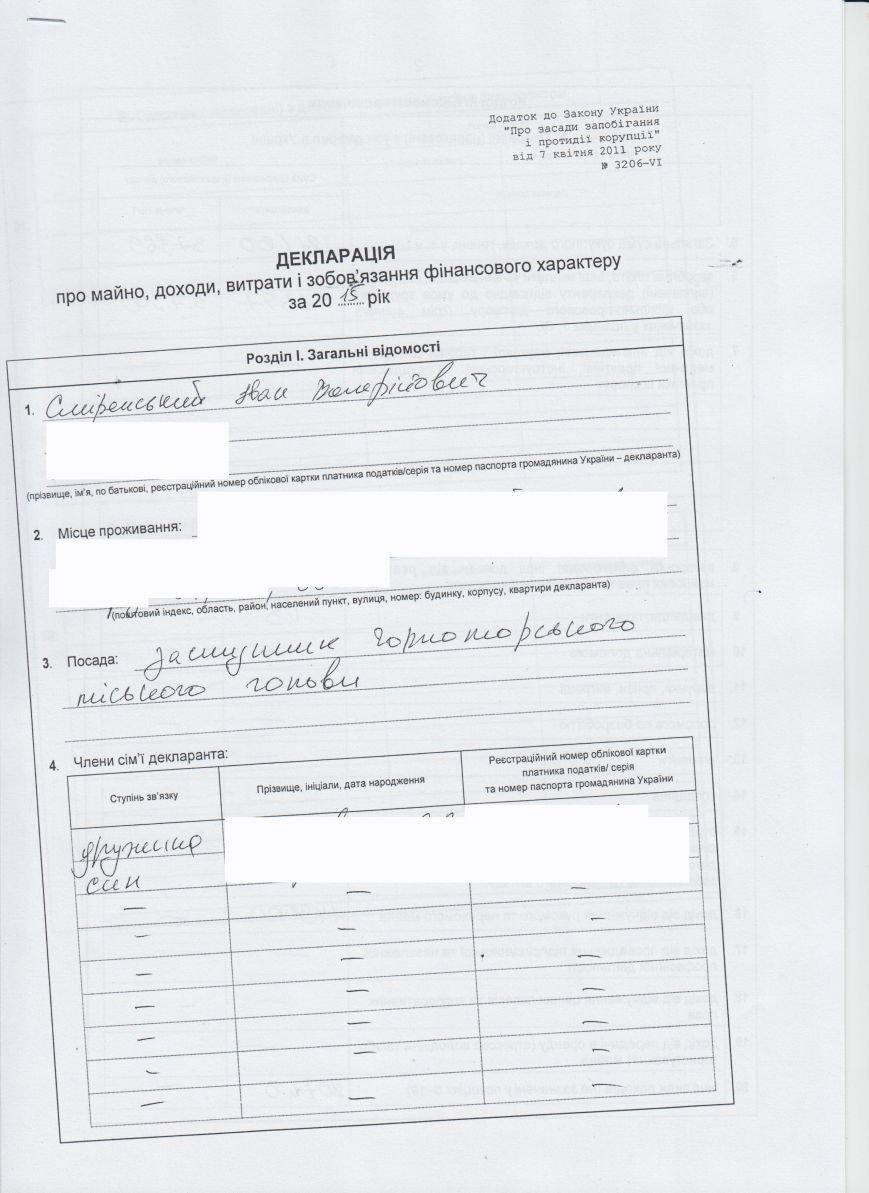 Декларации о доходах городского головы и заместителей (фото) - фото 6