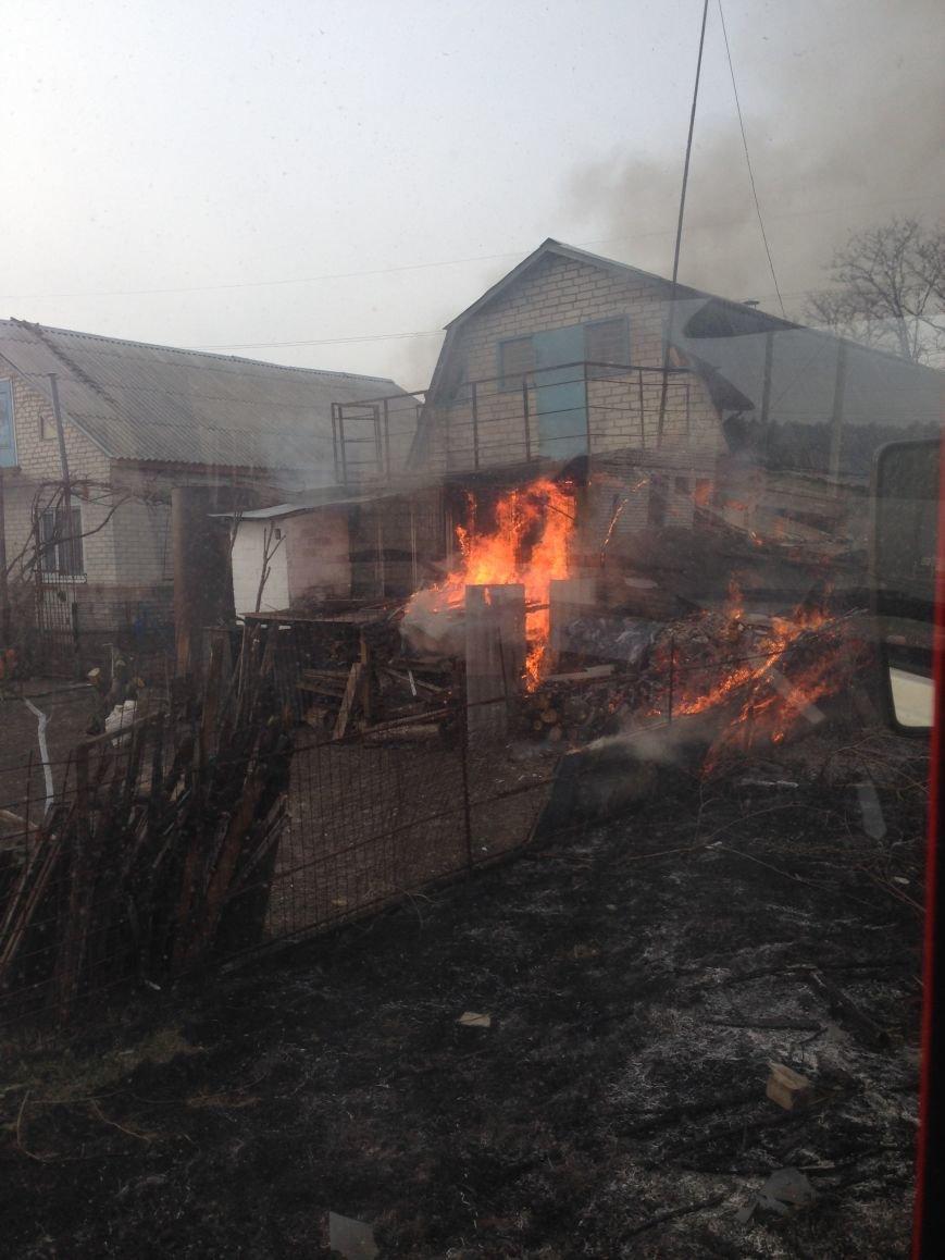 В Кременчугском районе горела частная усадьба (ФОТО), фото-2