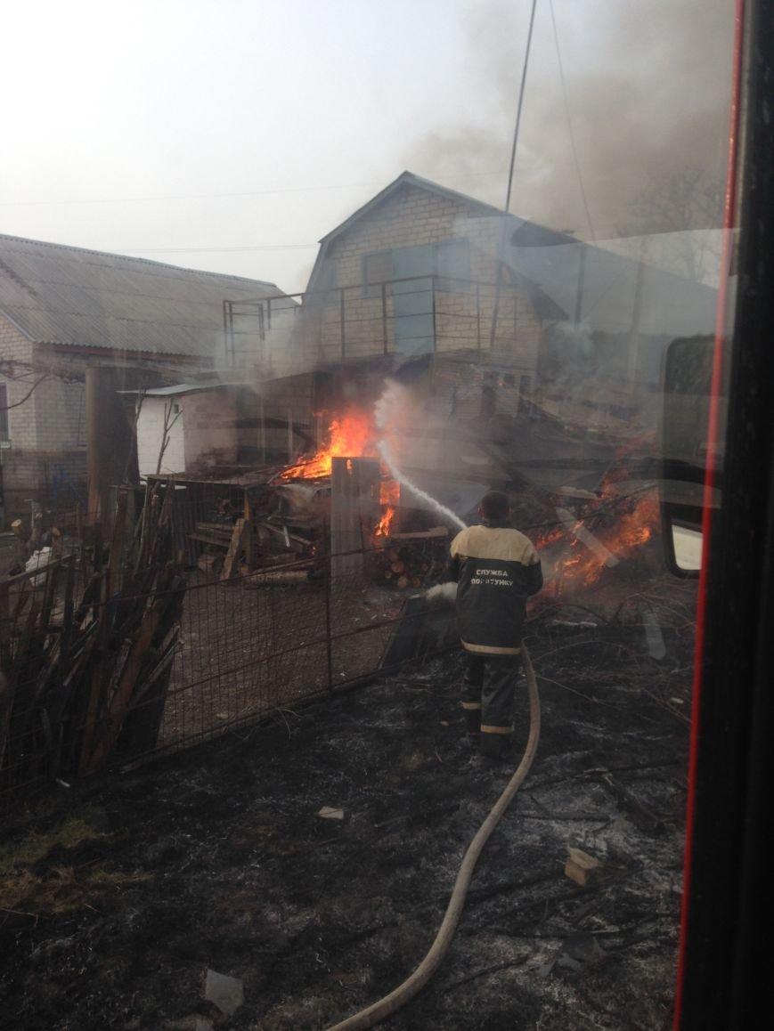 В Кременчугском районе горела частная усадьба (ФОТО), фото-1