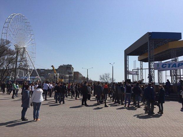Всемирный день здоровья в Бердянске отметили флешмобом, фото-1