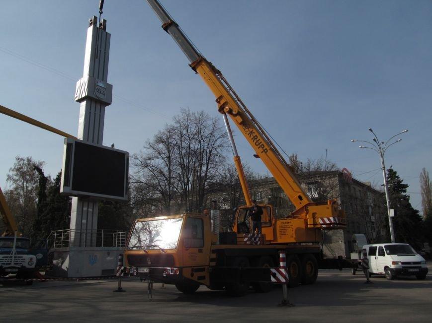 В Кременчуге сняли «серп и молот» на площади Независимости (фото и видео), фото-8