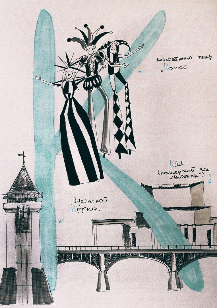 «А - Амфитеатр, О - Ольгерд». Как художник Тома Прокофьева придумала и нарисовала «Витебский алфавит» (фото) - фото 3