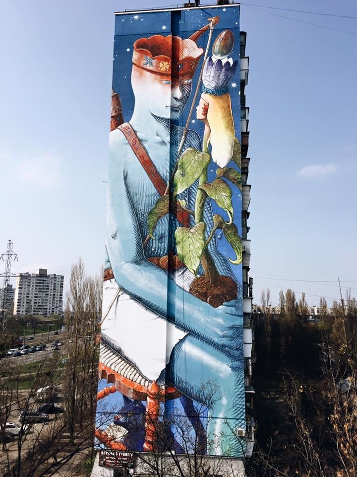 На Братиславской появился новый мурал (ФОТО) (фото) - фото 1