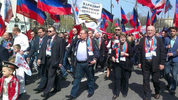 Рекорды «ДНР» - в Донецке сепаратисты «собрали» на главной площади «республики» в два раза больше людей, чем она может вместить (ФОТО) (фото) - фото 1