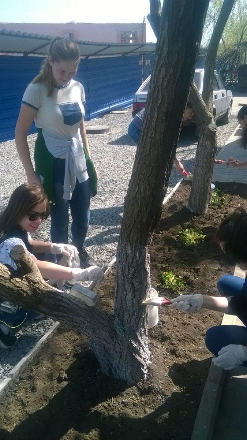 Старшеклассники школы № 31 города Новошахтинска помогли в уборке территории храма, фото-1