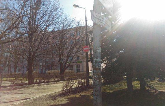 Дорожные знаки Пскова играют в прятки (фото) - фото 2