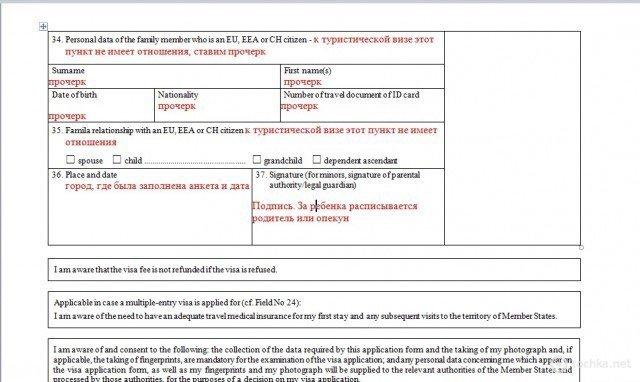Шенгенська віза: зразок заповнення візової анкети (фото) - фото 5