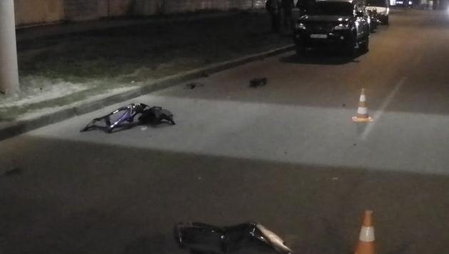 На Клочковской Лексус сбил пьяного мотоциклиста (ФОТО) (фото) - фото 1