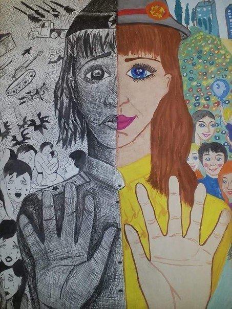 Рисунки детей Макеевки представлены на экспозиции в Москве (фото) - фото 3