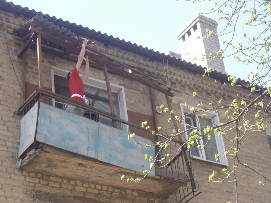 Как движется прогресс с аварийными балконами в центре Красноармейска (Покровска)? (фото) - фото 1