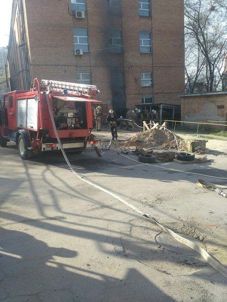 В Харькове горело