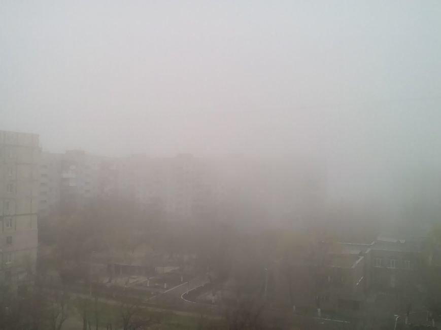 На Мариуполь в полдень напал странный туман (ФОТО+ ВИДЕО), фото-1