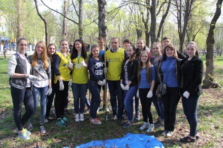 Сегодня в Кременчуге молодёжь начала наводить порядки в городских парках (фото и видео), фото-4