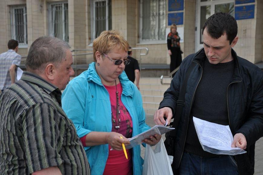 В Краматорске собирали подписи против не переаттестованных сотрудников полиции, фото-1