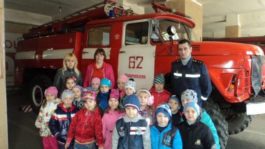 В детском саду «Уголек» был проведён месячник по пожарной безопасности (фото) - фото 1
