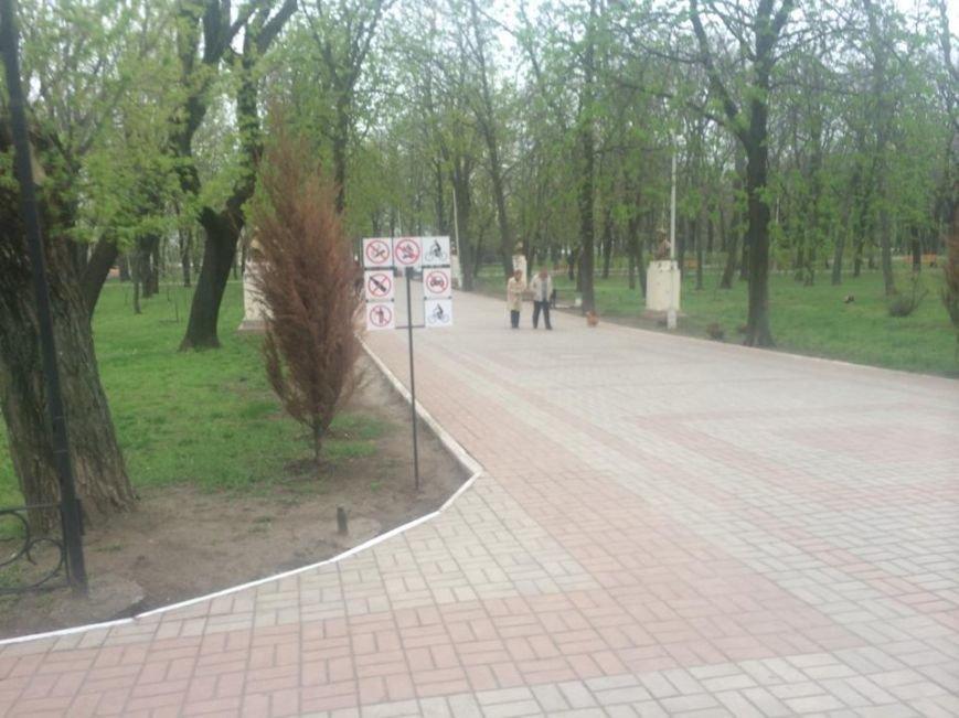 В Мариуполе Городской сад готовят к открытию: красят, белят и устанавливают новые лавочки (ФОТОРЕПОРТЖ, ВИДЕО), фото-10