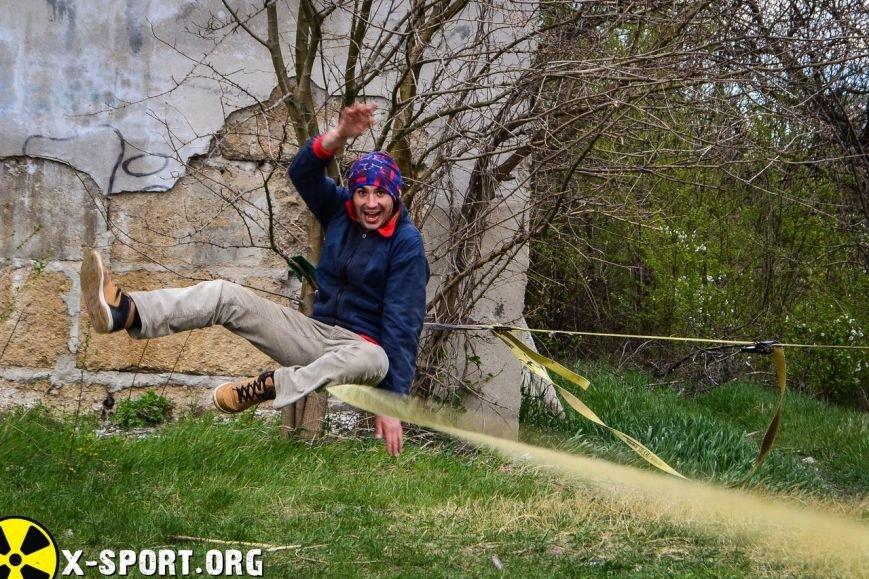 4b44de3bdd99ab9961ee05cb41cad694 Искусство самоконтроля: Одесситы в парках по канатам прыгают