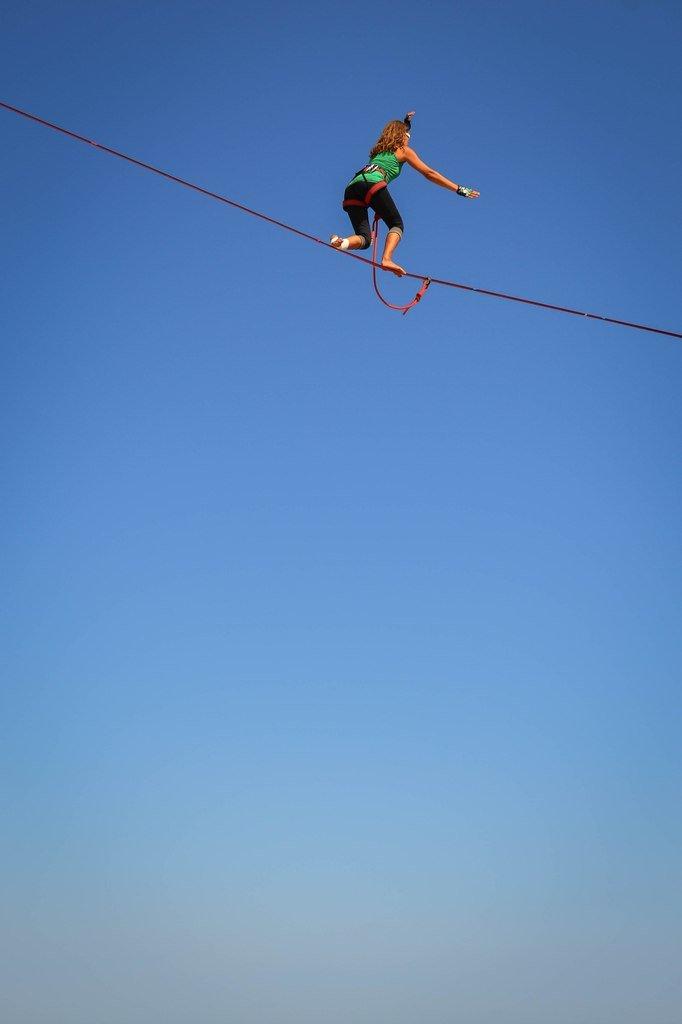 8c6b87190b7e5b1d7d7634462a1615d0 Искусство самоконтроля: Одесситы в парках по канатам прыгают