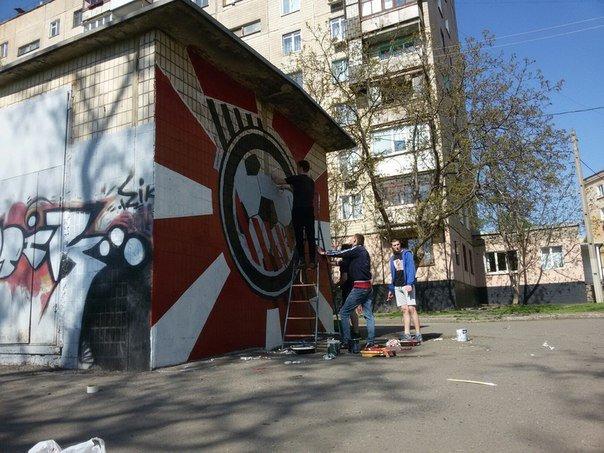 """Фанаты ФК """"Кривбасс"""" за 7 часов нарисовали граффити в поддержку любимой команды (ФОТО), фото-5"""