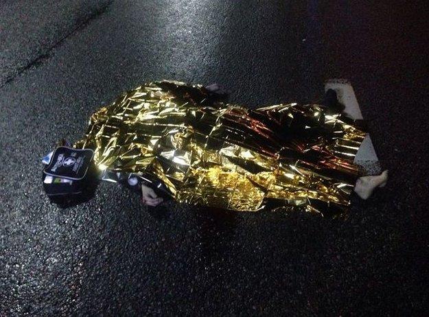 """На Бориспольской трассе водитель """"Тойоты"""" насмерть сбил пешехода (ФОТО) (фото) - фото 1"""