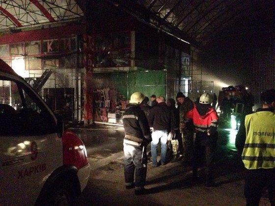 Ночью горел рынок Барабашово (ФОТО) (фото) - фото 1
