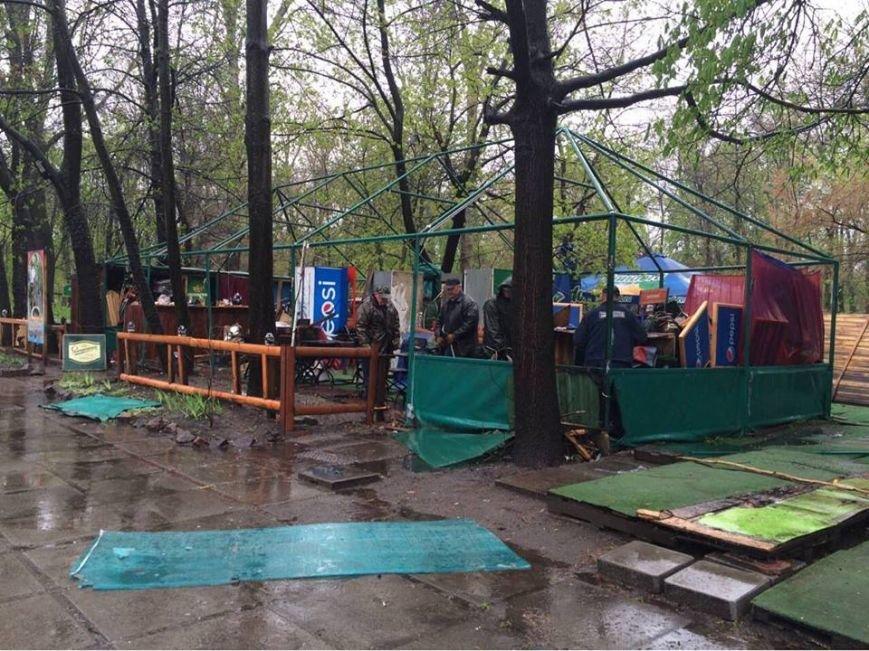 В Гидропарке демонтировали незаконные МАФы (ФОТО), фото-1