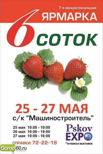 Межрегиональная ярмарка «6 соток» откроется в Пскове в преддверии начала дачного сезона (фото) - фото 1