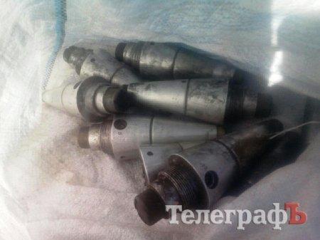 В Кременчуге возле завода нашли 9 взрывателей от установки ГРАД и запаянный металлический ящик, фото-2