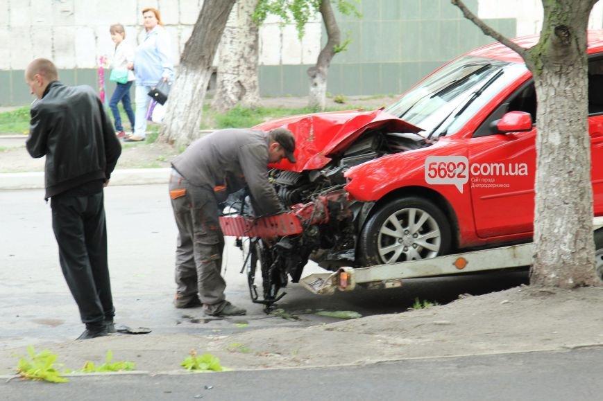 В Днепродзержинске произошло ДТП: водитель Mazda врезался в дерево (фото) - фото 2