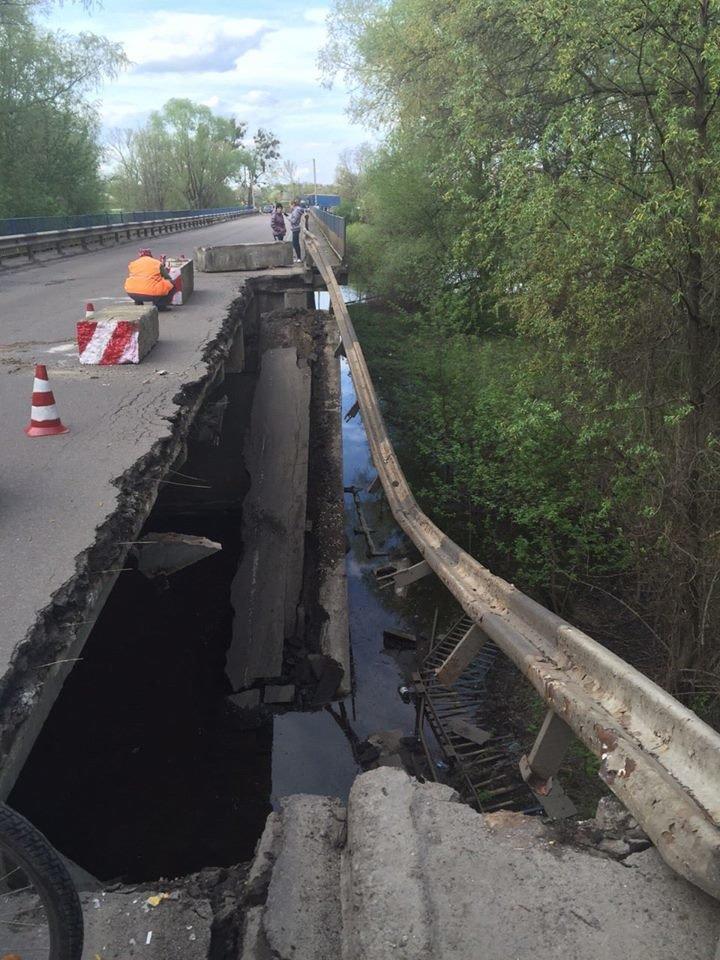 На трассе Сумы-Киев рухнул мост (ФОТО), фото-2
