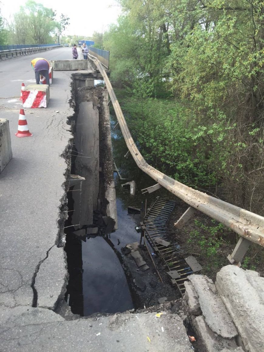 На трассе Сумы-Киев рухнул мост (ФОТО), фото-1