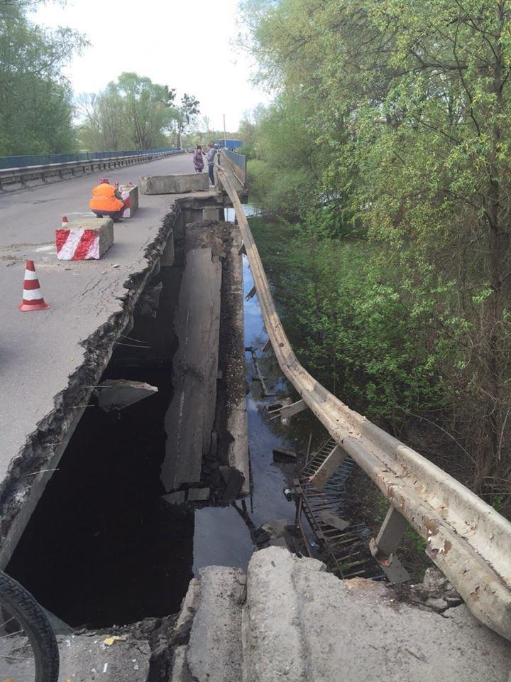 На трассе Сумы-Киев рухнул мост (ФОТО), фото-4